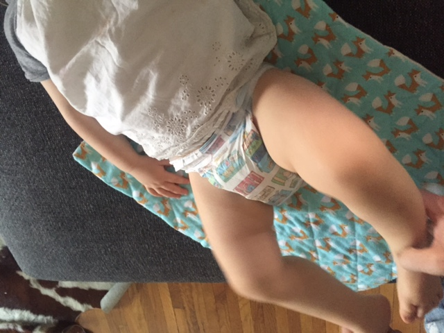 Diaper Change on Couch