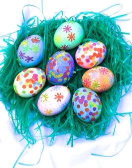 Easy decoupage Easter eggs