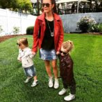 Me and my minis all in rocker jackets Different colorshellip